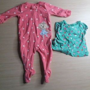 Mixed Lot Of 2 Girls Baby Clothing Size 6-9 Mth